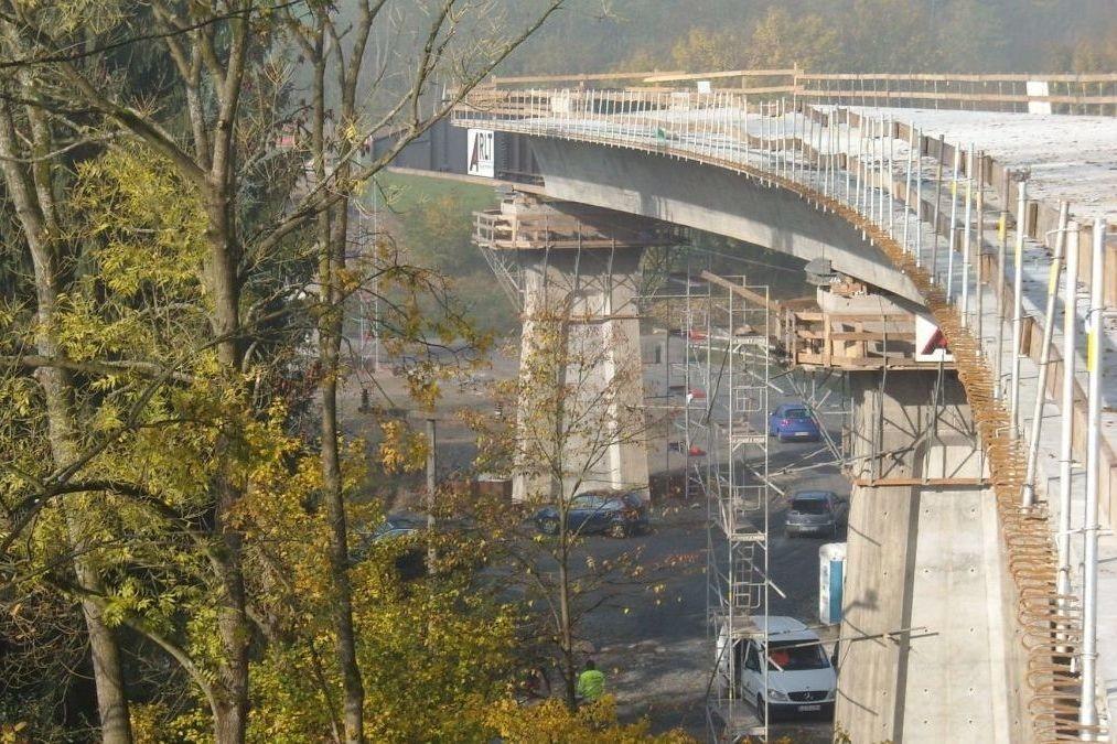 Steinachtalbrücke under construction