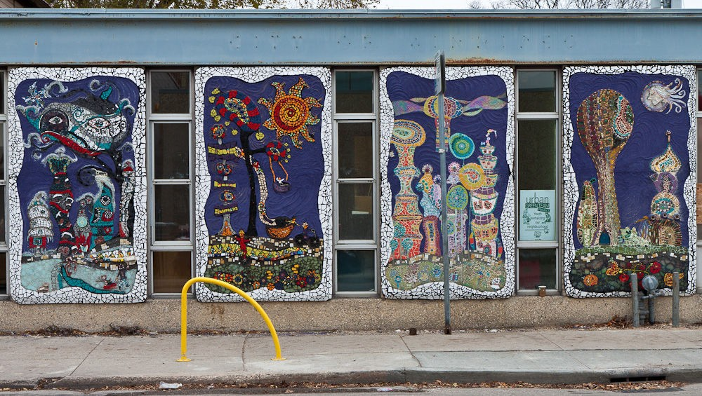 Four Season panels  Created by the Community members of the West end neighbourhood.
