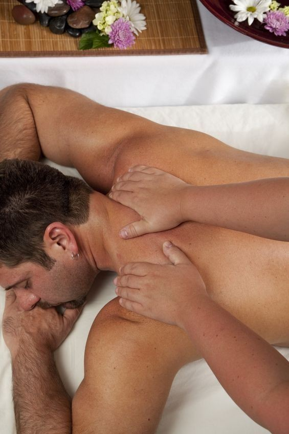 Man Getting A Neck & Shoulder Massage
