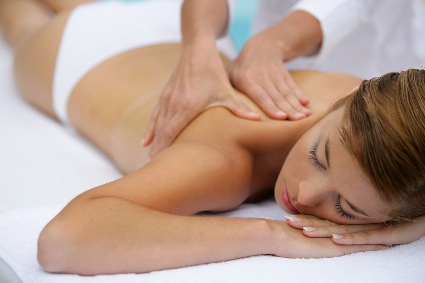Woman Gerring Back Massage