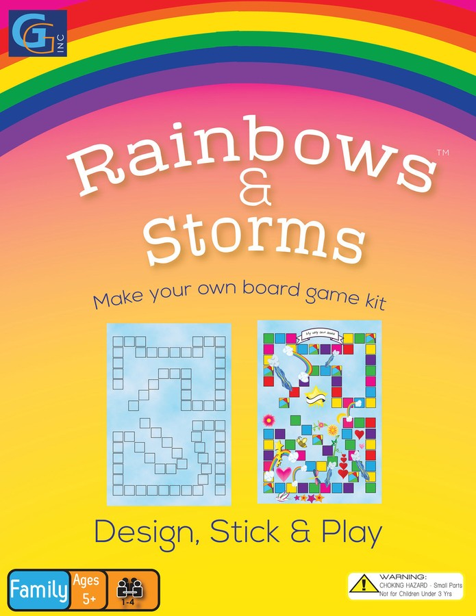 Create Your own Board Game Kit Rainbows & Storms