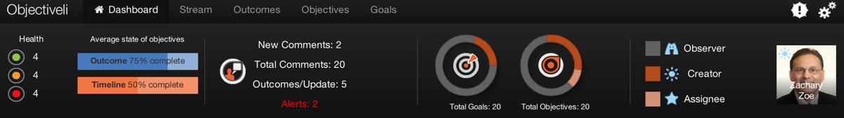 Screen Shot of Goal Stats