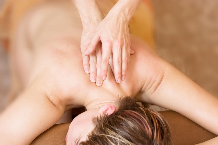 Beautiful Picture Od A Woman Getting A Back Massage