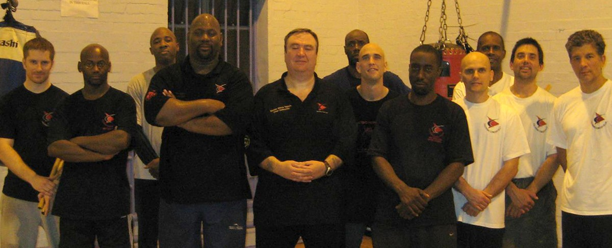 Paul Leslie, Master Steve Tappin, Wayne Tappin and students Escrima London