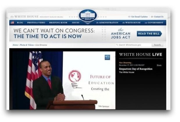 Arel Moodie Speaking at the White House