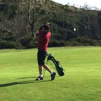 Larry Sher finishing strong at the 2014 World Championships, Bandon Dunes OR