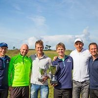 Speedgolf founders with the 2013 & 2014 Speedgolf World Champs