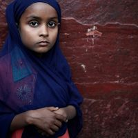"Fred Canonge (Photographie) - Muslim girl (de la série ""Urs at Nizamuddin, a Sufi gathering""), New Delhi, Inde. 2011"