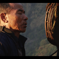Gurung shaman trying to catch human soul