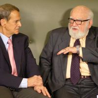 Joey and Ed Asner get serious