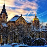 Golden Dome in Winter