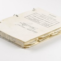Sold Price:	$48,644 - Amazing CSM EVA/EXP checklist used during the Apollo 17 spce program flight, 6 x 8, stamped with flight certification and signed on the front cover in black felt tip by Gene Cernan. pages filled out with in-flight writing, much of which remains scientifically relevant today. The highlight of this checklist is undoubtedly the presence of three pages of solar corona observation sketches