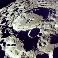 AS11-44-6611 Crater 308 viewed from orbit