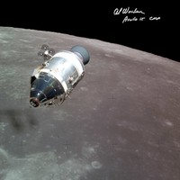 The Apollo 15 Command and Service Module in Lunar Orbit as seen by Dave Scott and Jim Irwin in the LM. Hand signed by Command Module Pilot Al Worden