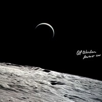 Incredibly beautiful photo of a very thin Crescent Earth as is rises above the Lunar Surface