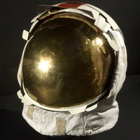 Gene Cernan's helmet from his A7-LB spacesuit on Apollo 17.