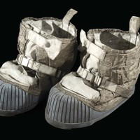 These lunar overshoes were made for and worn by Gene Cernan, commander of the Apollo 17 mission that landed on the Moon on December 10, 1972.