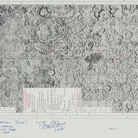 "US$ 10,000 - 15,000  SIGNED BY 6 MOONWALKERS—APOLLO 11 TARGET OF OPPORTUNITY Apollo Target Of Opportunity Flight Chart (ATO). Apollo Mission 11, 16 July. 58 x 14 inch Flight Chart SKB 32100097-301, 2nd Edition. Scale 1:7,500,000.   SIGNED AND INSCRIBED: ""A Dream Of Mankind Becomes True! The First Lunar Landing Apollo Xi Tranquility Base July 20, 1969; BUZZ ALDRIN LMP; DAVE SCOTT Apollo 15 CDR; GENE CERNAN Apollo XVIII-CDR; ALAN BEAN Apollo 12 LMP; EDGAR MITCHELL Apollo 14 LMP"" and ""CHARLIE DUKE Apollo 16 LMP.""   The map displays the topography of the surface of the Moon with a Vertical to 45° tilt. The map displays a legend that includes symbols for Landing Sites and Surveyor Locations amongst others.In preparation for the Moon landings, NASA began work on detailed maps using the five Lunar Reconnaissance Orbiter satellites of 1965/66 to prepare the first detailed maps of almost the entire lunar surface. With the Moon's topography charted, NASA could select the optimal landing point for the Apollo 11 mission."