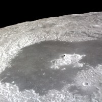 Tsiolkovsky crater from the Apollo 15 CMS in lunar orbit