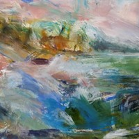 Lamorna - acrylic and pastel on paper