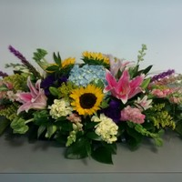 Colorful Garden Casket Spray - $225 as pictured