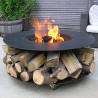 Fire Pit Features - Castors For Ease Of Movement