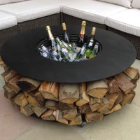 Fire Pit Features - Drinks Ice Container