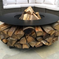 Fire Pit Features - Log Storage