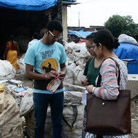 18 September: Kashish from waste management startup Sampurn(e)arth explains different types of plastics