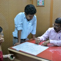 10 September: Discussing vehicle routes with a motor loader chowki junior overseer