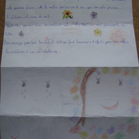 Myriam sent her letter from Marocco.