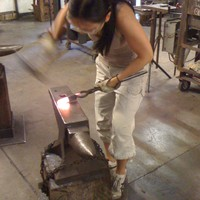 Blacksmithing at The Crucible