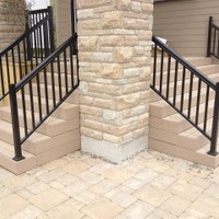 Composite stair case
