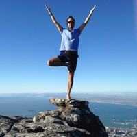 tree pose vrksasana table mountain  south africa