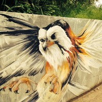 Walthamstow Marshes eagle mural