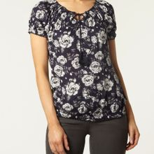 Ruffle printed blouse  manufactured for Dorothy Perkins