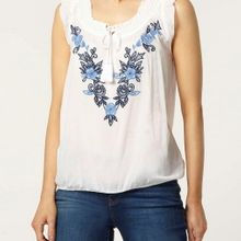 Embroidered blouse  manufactured for Dorothy Perkins