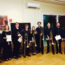 Mark Tse with members of the NEC Wind Ensemble - Gabrieli Canzon Primi Toni