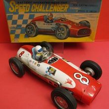 battery operated tin racing car the antique toy shop new york