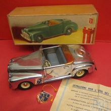 Marchesini tin chromed car the antique toy shop new york
