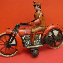 tin motorcycle the antique toy shop new york