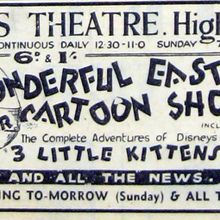 Press Advert for the Easter Cartoon Show.