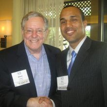 With Steve Forbes founder of Forbes Magazine