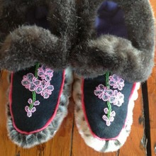 Seal Skin Moccasins w/Sea otter Trim