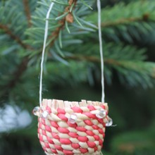 Spruce Root Basket Ornament
