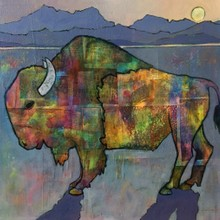 Moonrise Bison /SOLD