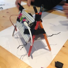 Sound Activated Draw Bot, Spring House, Amsterdam, 2015