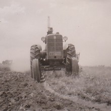 "My grandfather farming many years ago at Caragabal on ""Strathmore""."
