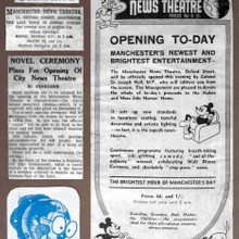 Manchester News Theatre Opened on Moday 21st December 1936