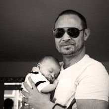 Stuart Grant with a friends baby!